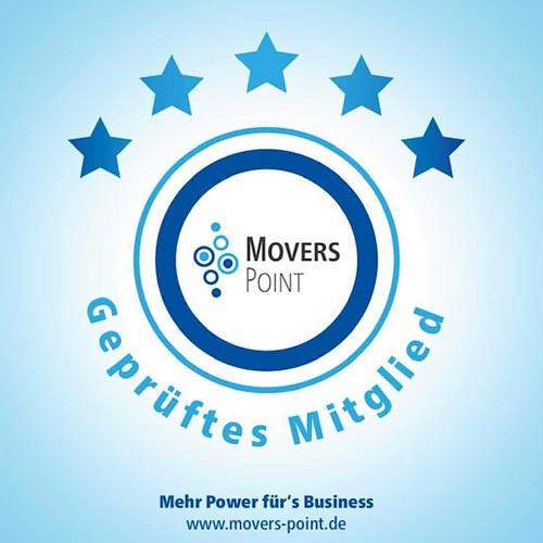 Geprüftes Mitgleid von Movers Point – Mehr Power für's Business